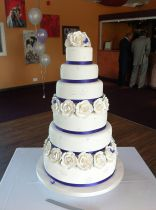 Six Tier White Wedding Cake (8778)