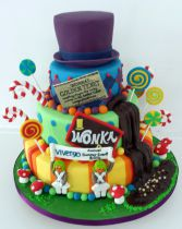 Willy Wonka themed Wedding Cake (8771)