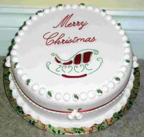 SPECIAL OFFER Christmas Cake - Sleigh