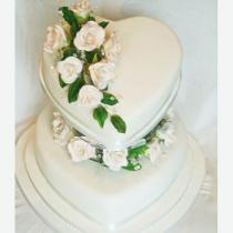 Heart Wedding Cake (053)