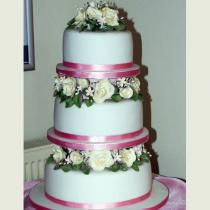 Three Tier Roses Pink (096)