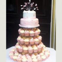 Two Tier and Cup Cakes (181)