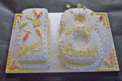 Number 18 Cake Sugar N Spice Cakes