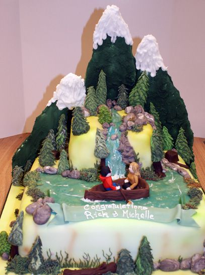 Mountain Scene Sugar N Spice Cakes