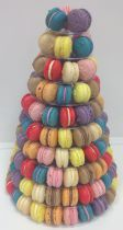 Macaroon Tower Wedding Cake (7263)