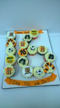 Number Board Cup Cake Design