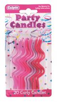 Pink Curly Candles