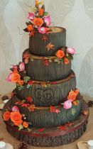 Tree Slices Wedding Cake (8773)