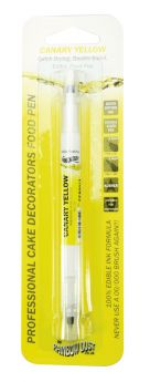 Rainbow Dust Double Sided Cake Decorators Food Pen - Canary Yellow