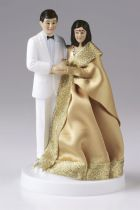 Figurine - Indian Bride in Gold and Groom