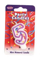 Mini Party Candle '5'