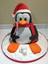 Carved Penguin Cake Class