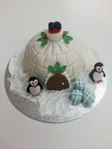 Igloo cake class for children