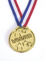 Plastic Gold Coloured Winners Medal