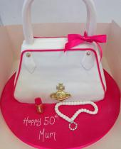 White and Pink Bag (655)