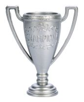 Silver Colour Plastic Trophy - 38mm