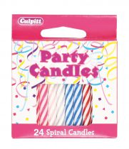 Spiral Candle Multi 24 Piece