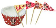 Walt Disney - Minnie Mouse - Baking Cases and Pics - 24 piece