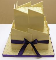 White Chocolate Panel Cake