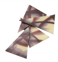 White and Plain Chocolate Triangles