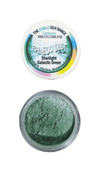 Rainbow Dust Edible Silk Range - Starlight Galactic Green - Retail Packed