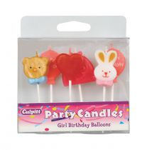 Girls Birthday Balloons Candles