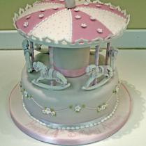 Carousel One Tier Cake (142)