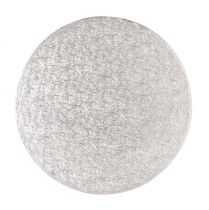 "13"" (330mm) Cake Board Round Silver Fern - single"