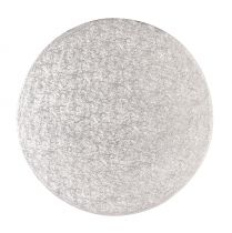 "8"" (203mm) Cake Board Round Silver Fern - Single"