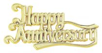 Happy Anniversary Gold Coloured Motto