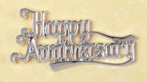 Happy Anniversary Silver Coloured Motto