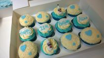 12 birthday cup cakes