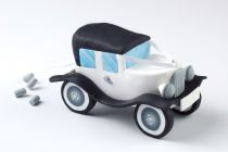 Claydough White Wedding Car