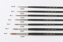 No.3 Artist Brushes - Sable - 5 Brushes