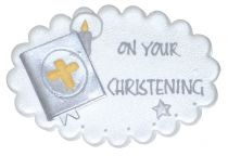 On Your Christening Sugar Plaque