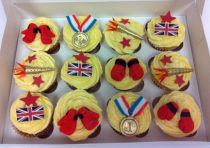 Themed Cup Cakes -Boxing
