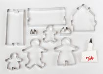 Tala Gingerbread Family and House Cutter Set