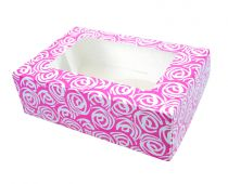 Pink Roses 6 Cupcake/Muffin Box - 2 piece