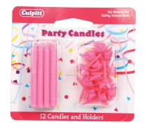 Pink Candles and Holders