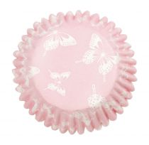 Pink Butterfly Printed Baking Cases