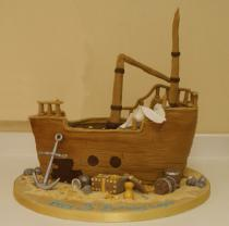 Pirate Ship Cake (522)