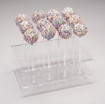Acrylic Cake Pop Stand Clear - (Holds 12 Cake Pops)