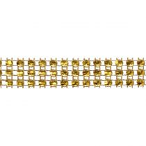 Medium Gold Coloured Diamante Trim