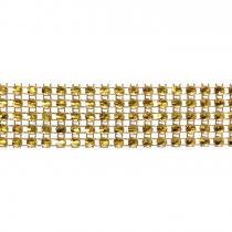 Large Gold Coloured Diamante Trim