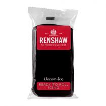 Renshaw Professional Sugar Paste - Jet Black - 20 x 500g