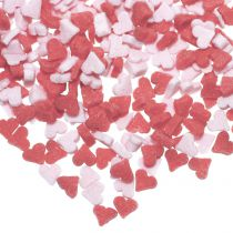 Pink and Red Mini Heart Sugar Sprinkles - 22g (10 Pack)