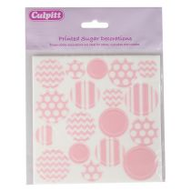 Printed Sugar Decorations Pastel Pink