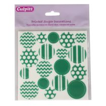 Printed Sugar Decorations Green