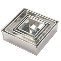 "Invicta Square Cake Tin 245mm (10"") - depth 89mm (3.5"")"