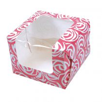 Pink Roses Single Cupcake/Muffin Box
